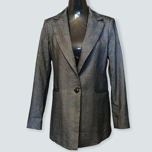 Mango Minicheck Suit Blazer Women size 6 New